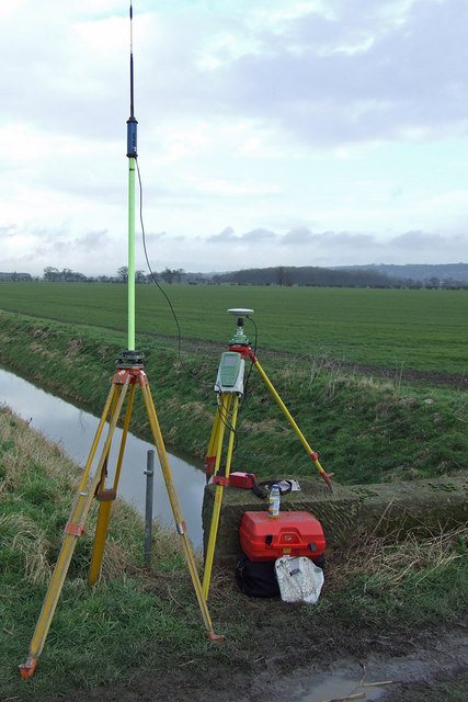 GPS Survey Equipment at Weir Dyke Bridge