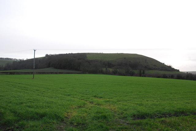 View towards Winklebury Hill