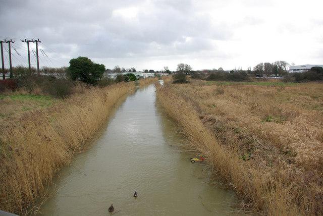 Aldingbourne Rife looking downstream