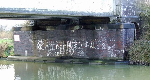Graffiti on Rail Bridge