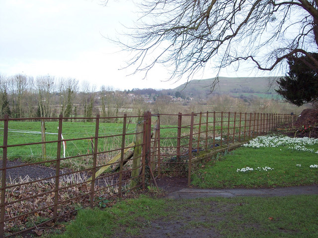 Kissing gate leading from churchyard of the Church of the Holy Rood