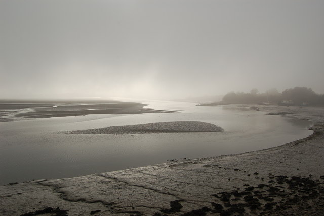 Misty morning on the River Taw