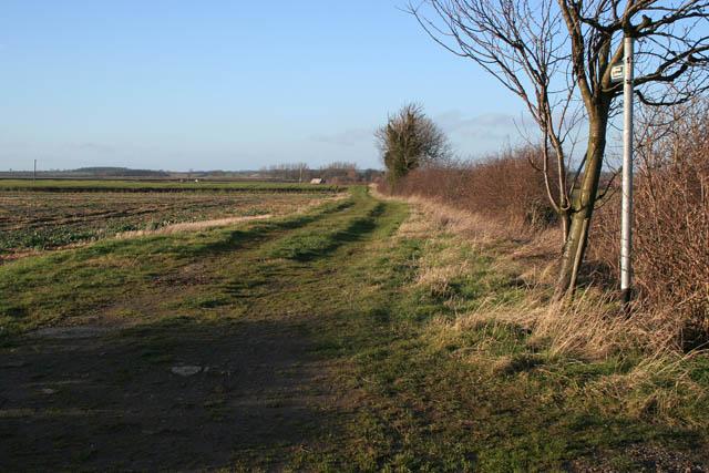 Public bridleway near Aunsby