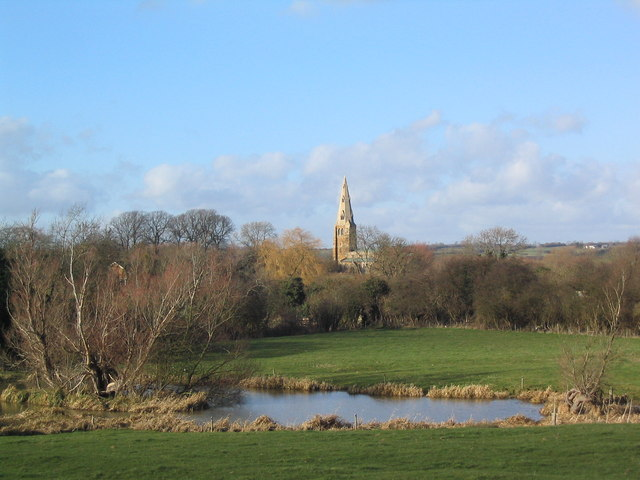 Church of St Peter, Kirby Bellars. View from the south-east