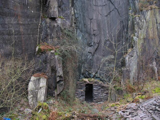 An improvised RAF blast shelter