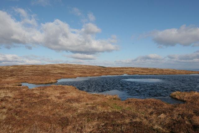 Pool on the ridge above Glen Fyne