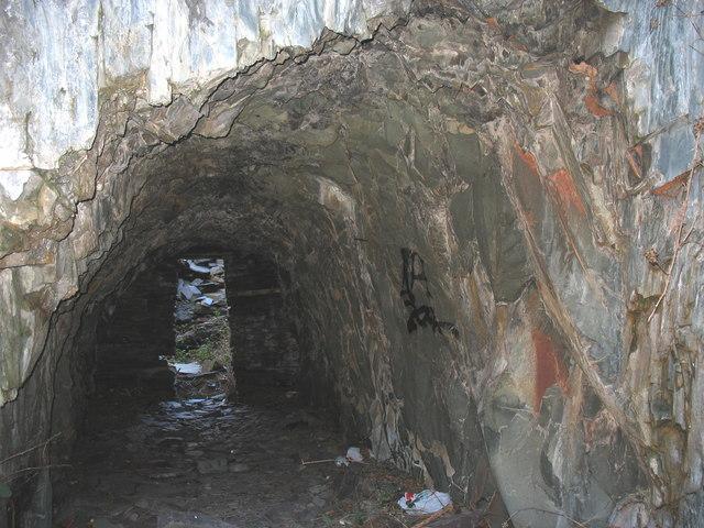 Inside the improvised blast shelter