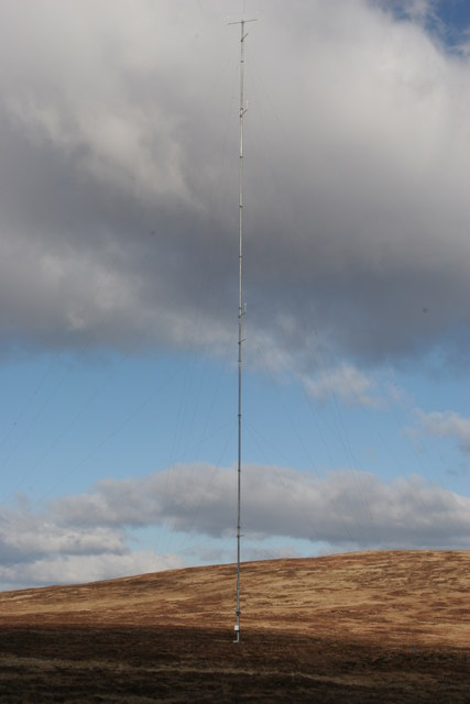 Anemometer tower for proposed wind farm on Black Craig