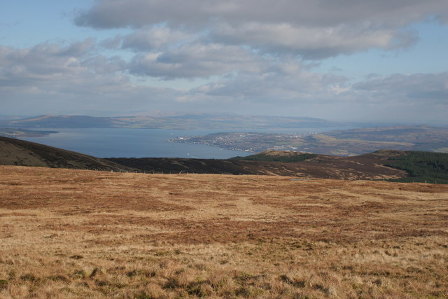 Gourock and the Lower Clyde from the Cowal Hills