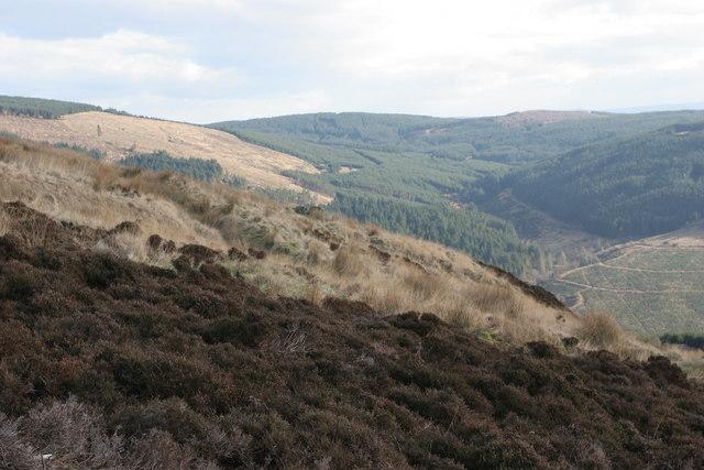 Looking north east into Glen Fyne