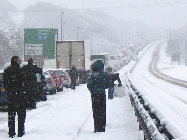Traffic jam on A48