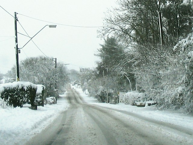 Black Lion Road after freak snowfall