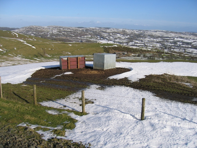 Feed Boxes East of Moel Llanfair