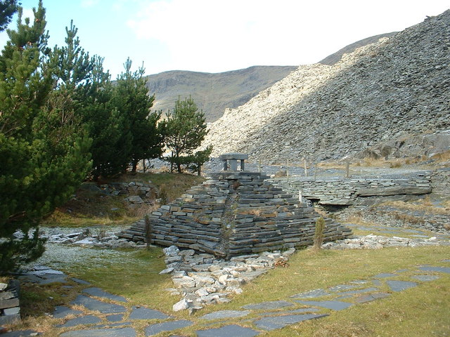 Sculpture below Wrysgan Quarry