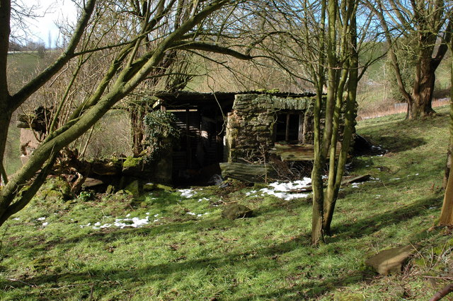 Old shed in an orchard at Westhope