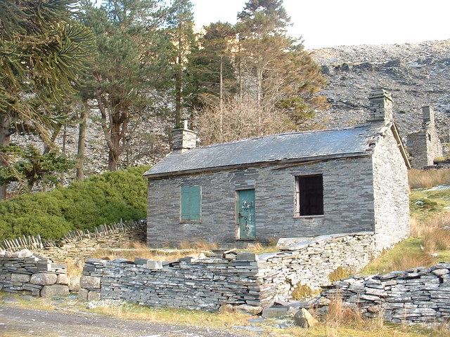 Disused quarry building at Cwmorthin Quarry