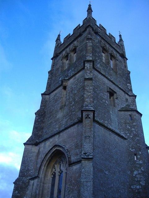 St Matthew's church tower, Coates