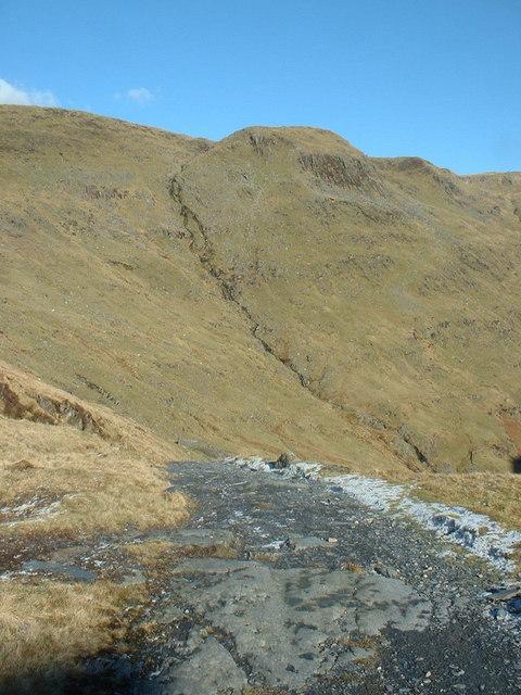 Quarry track from Rhosydd Quarry
