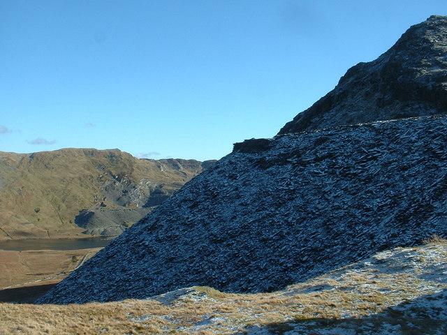 Rhosydd quarry spoil heap