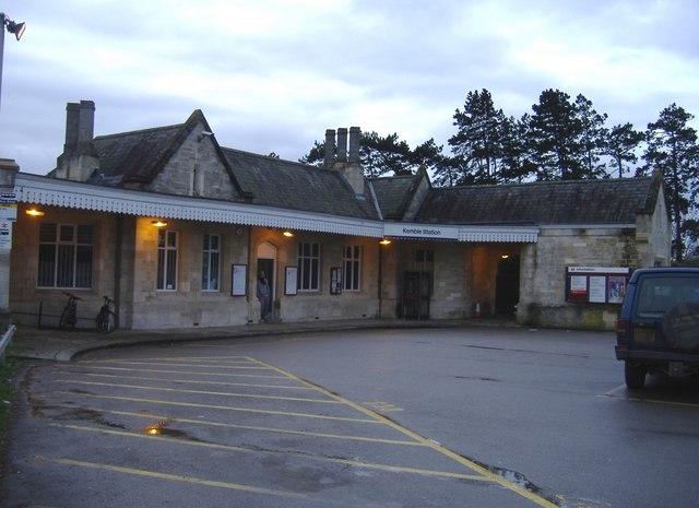 Station entrance, Kemble
