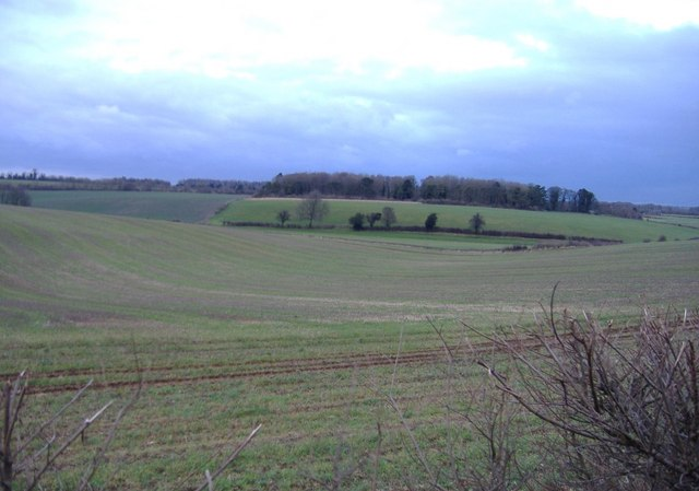 Rolling countryside,  near Kemble