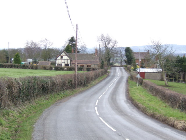 B4214 south towards Bishop's Frome