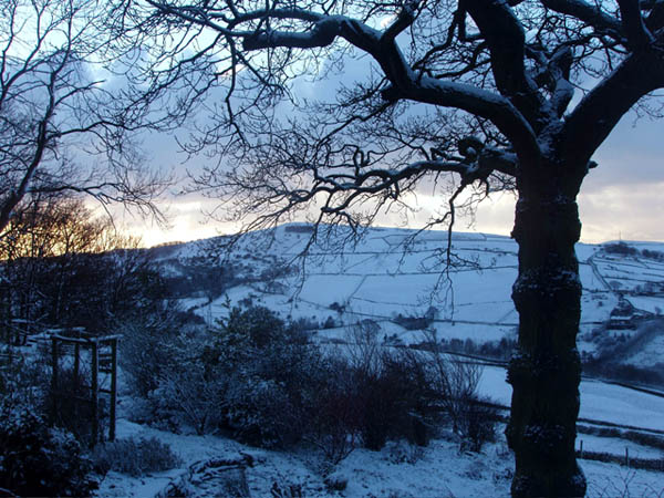 Eccles Pike from Cote Bank Farm