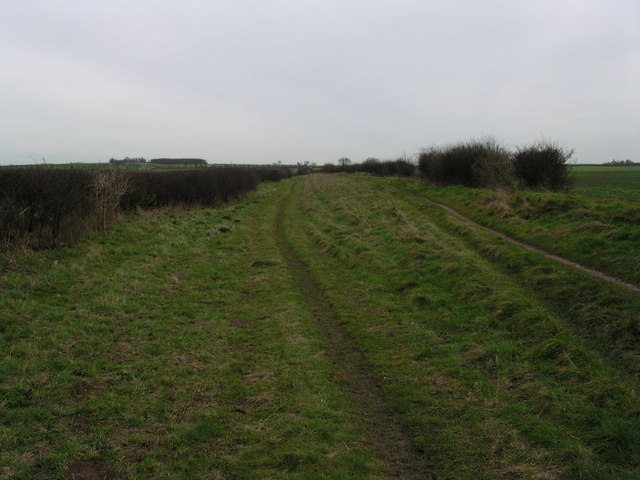 Roman Road + Gunner's Hall at the left on the horizon.