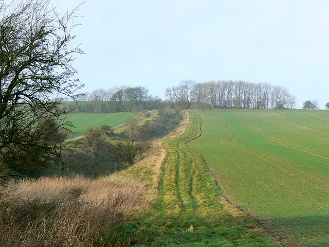 A view along the Wansdyke from the A361, Wiltshire