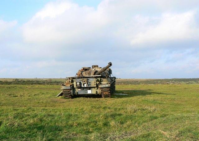 Derelict tank, Salisbury Plain west of Imber