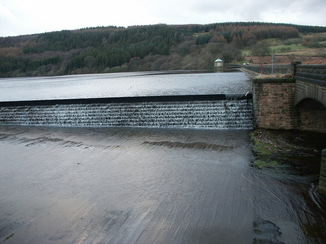 The Spillway at Fernilee reservoir