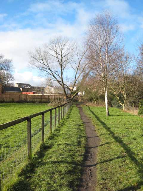 Footpath and open space, Fern Valley, Crook