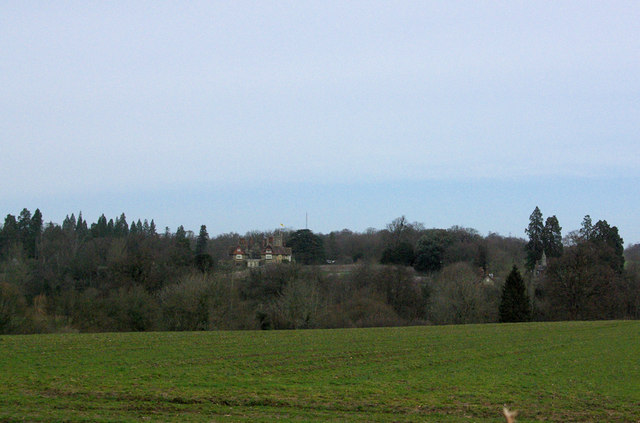 View towards Cowdray House
