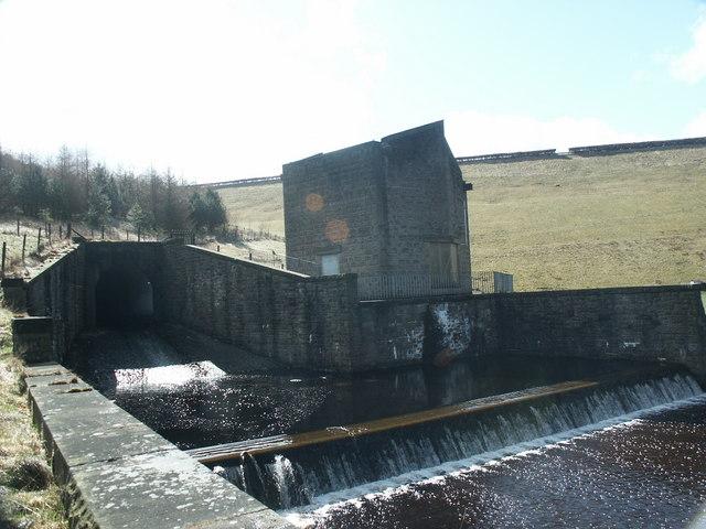 Errwood Reservoir to Fernilee Reservoir overspill