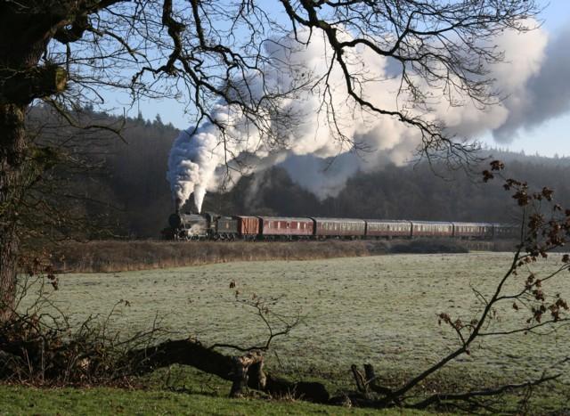Great Marquess steam locomotive on Churnet Valley Railway