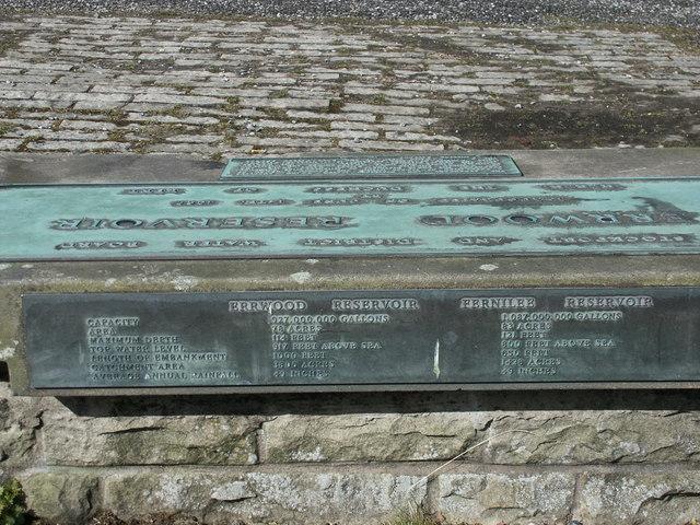 Goyt Valley memorial Plaque
