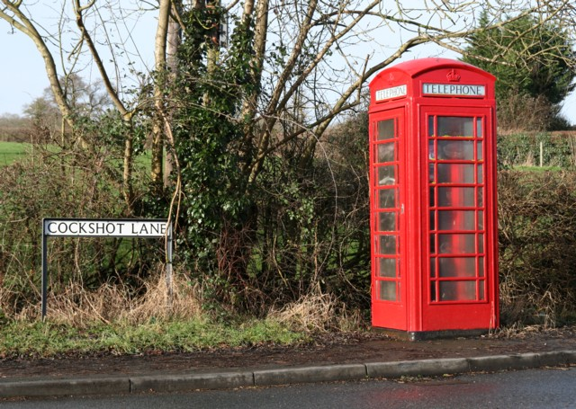 Telephone Box at the corner of A422 and Cockshot Lane, Dormston