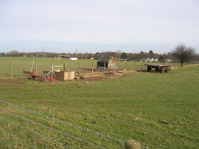 Sheepfield and Football Pitch