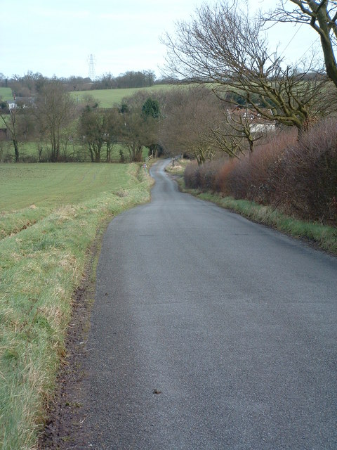 Downhill Country Lane