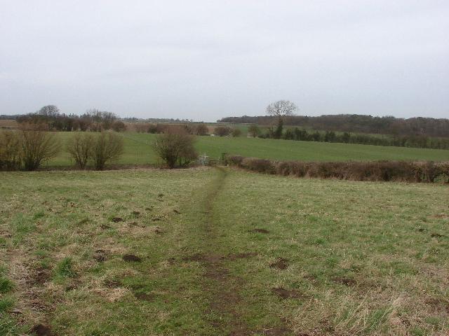 Footpath across pasture fields