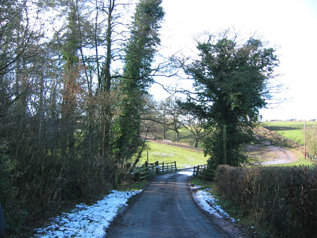 Iscoyd Wood and bridge over Iscoyd Brook
