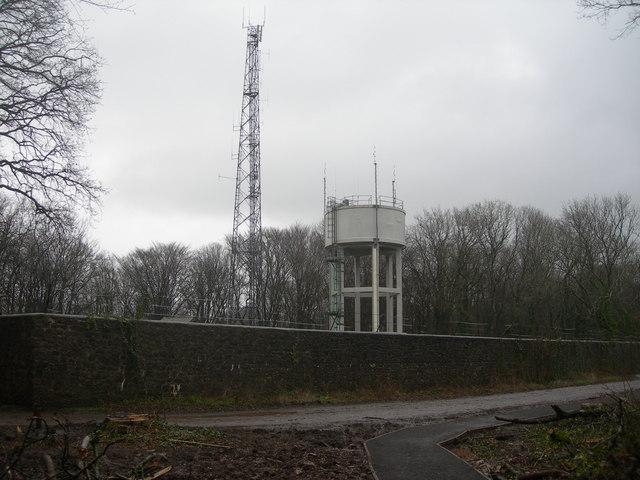 Water Tower and Radio Mast, Weston Woods