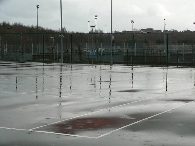 Tennis Courts in winter