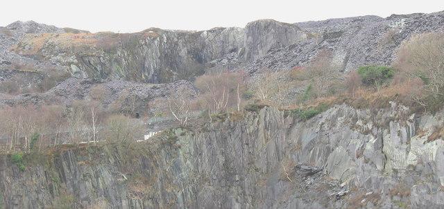 The Clegyr Road causeway and the Upper Glynrhonwy Quarry