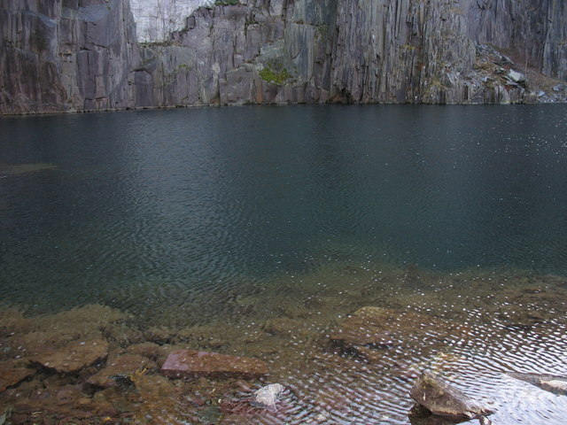 The Glynrhonwy pool - dark, cold and deadly.