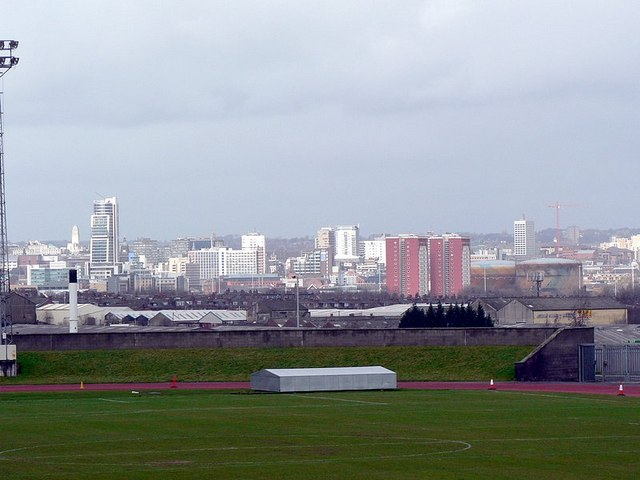 View of Leeds City Centre from the John Charles Centre for Sport