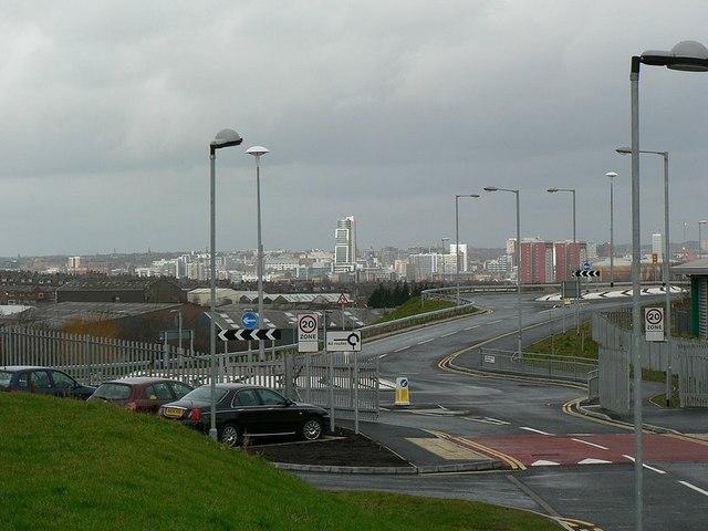 New roads outside John Charles Centre for Sport