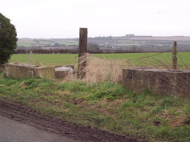 Concrete Barriers near High Post