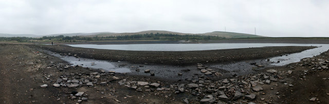 Panorama from the middle of Watergrove Reservoir