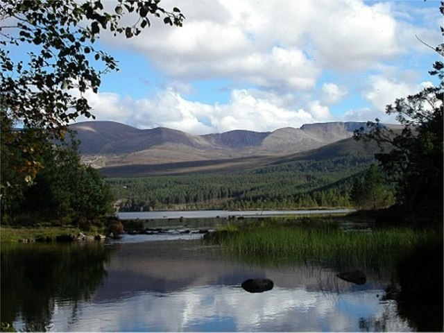 Loch Morlich emptying into the River Luineag